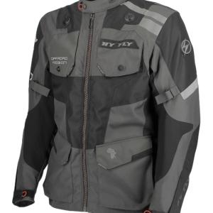 giacca moto hy fly dakla grigio scuro
