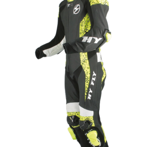 tuta moto HY FLY THUNDER RACING BLACK/YELLOW